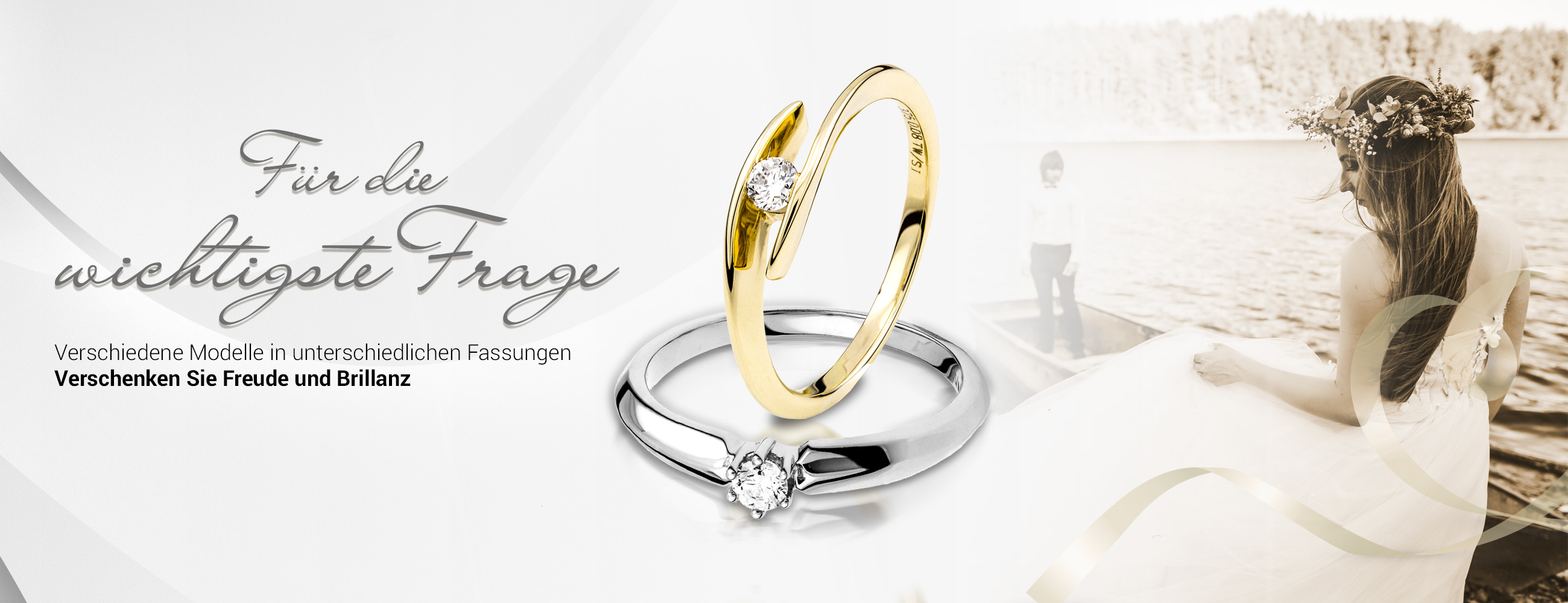 Sliderbild mit Verlobungs- und Eheringen